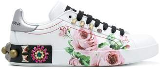 Dolce & Gabbana printed low top sneakers