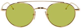 Thom Browne Gold TB-101 Sunglasses