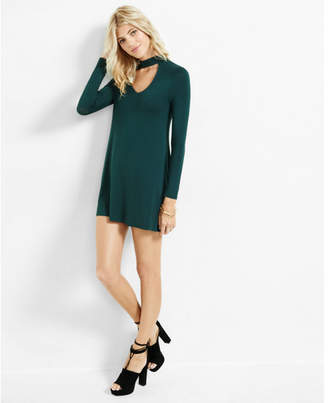 Express cut-out trapeze choker dress $49.90 thestylecure.com