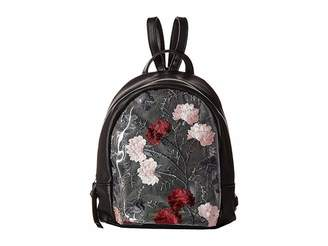 T-Shirt & Jeans Clear Backpack with Flowers Backpack Bags