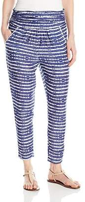 Roxy Junior's Ultra Violet Printed Pull On Beach Pants,S