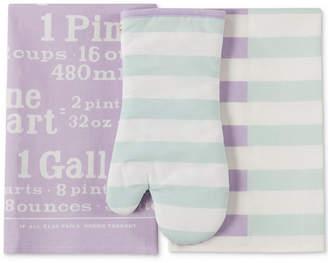 Kate Spade Springtime Kitchen Towels & Oven Mitt 3-Pc. Set