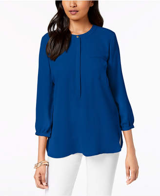 JM Collection Pleated-Back Blouse
