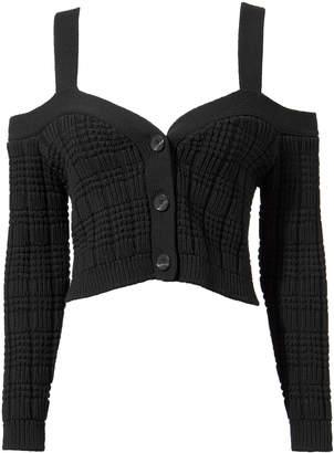 Intermix Rhea Cropped Cardigan Sweater
