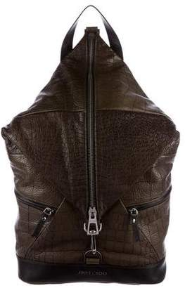 Jimmy Choo Fitzroy Embossed Backpack w/ Tags