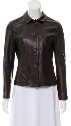 Joseph Leather fitted jacket
