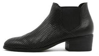 Django & Juliette New Hiska Black Womens Shoes Casual Boots Ankle