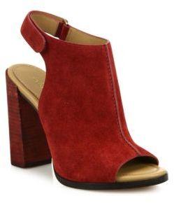 Michael Kors Collection Maeve Suede Block-Heel Slingback Sandals
