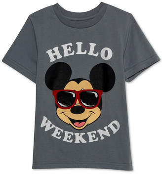 Disney Toddler Boys Mickey Mouse Hello Weekend Graphic T-Shirt