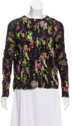 Jean Paul Gaultier Soleil Printed Knit Cardigan