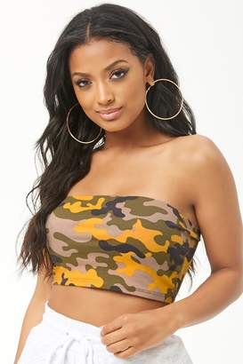Forever 21 Camo Print Tube Top