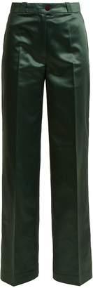 Acne Studios Tiffan Chinz wide-leg cotton-blend satin trousers