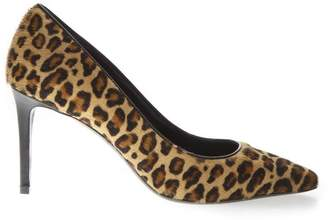 Aldo Castagna Suede Pumps With Leopard Print