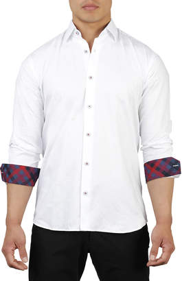 DAY Birger et Mikkelsen Maceoo Shaped-Fit Floral Jacquard Sport Shirt