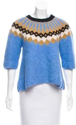 Smythe x Augden Intarsia Patterned Alpaca Sweater