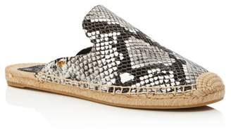 Tory Burch Women's Max Embossed Leather Espadrille Mules