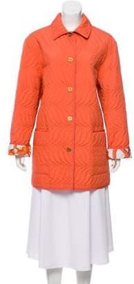 Salvatore Ferragamo Quilted Oversize Coat