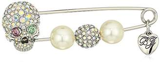 Betsey Johnson Women's Skull and Pearl Brooches and Pin