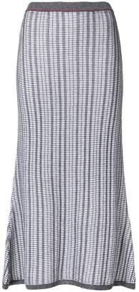 Victoria Beckham striped knit skirt
