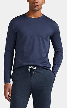 Loro Piana Men's Cotton Jersey Long-Sleeve T-Shirt - Navy