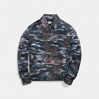 Coach Hawaiian Print Skater Jacket
