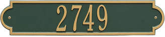 Richmond WHITEHALL Whitehall Personalized Horizontal Standard Wall Address Plaque - 1 Line
