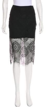 For Love & Lemons Lace Knee-Length Skirt