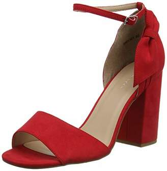 New Look Women's 5981301 Open Toe Heels, (Bright Red 60), 7 (40 EU)
