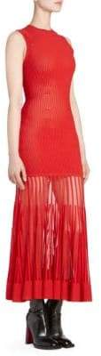 Alexander McQueen Sleeveless Rib-Knit Dress