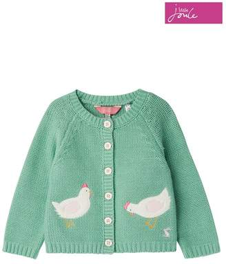 Joules Girls Dorrie Knitted Cardigan - Green