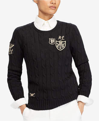 Polo Ralph Lauren Patchwork Cable-Knit Sweater