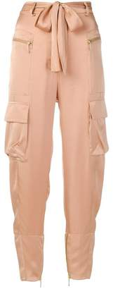 Just Cavalli belted trousers