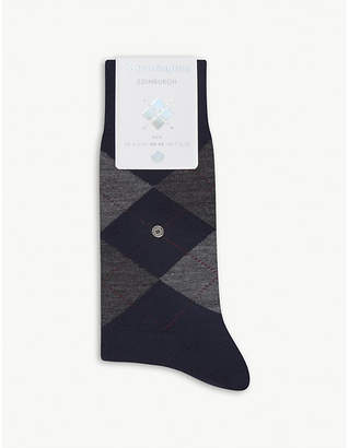 Burlington Edinburgh wool-blend socks