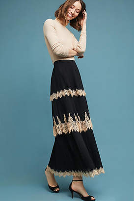 Maeve Tiered Lace Maxi Skirt