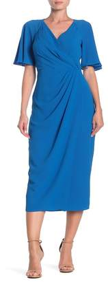 Maggy London Side Drape Midi Dress