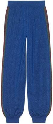 Gucci Wool lamé jogging pant