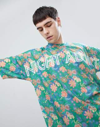 Night Addict Oversized Printed T-Shirt