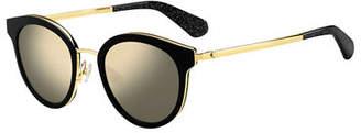 Kate Spade Lisannefs Round Mirrored Sunglasses