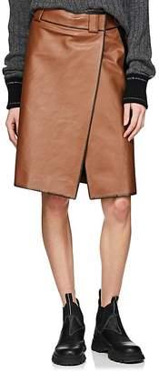 Prada Women's Leather Foldover Skirt
