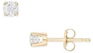Ice.com 1/3 Carat Diamond Stud 14K Yellow Gold Earrings