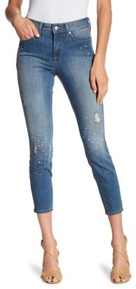 NYDJ Ami Faux Pearl & Distressed Ankle Jeans