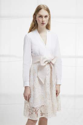 French Connection Chania Lace Wrap Shirt Dress