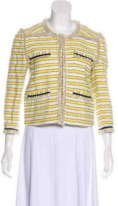 Veronica Beard Striped Knit Jacket