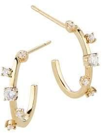 Lana Diamond& 14K Yellow Gold Hoop Earrings