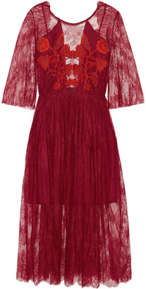 Sandro Shangai open-back embroidered corded lace midi dress $700 thestylecure.com