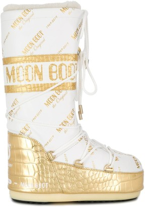 Moon Boot two tone moon boots