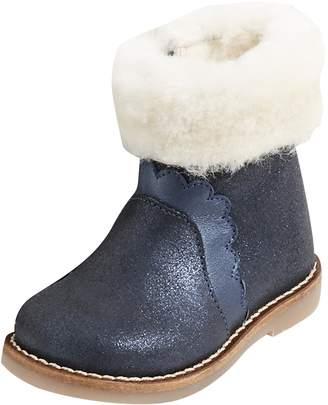 Jacadi Peluche Faux Fur Lined Boots
