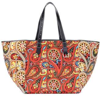 accf3f1427b7 J.W.Anderson Printed leather-trimmed tote