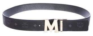 MCM Visetos Leather Belt w/ Tags
