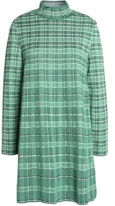 M Missoni Woman Checked Woven Mini Dress Green Size 40 M Missoni Shop Offer Sale Online Best Sale Cheap Online Cheapest Fashionable Online Cheap Pictures W1PuG